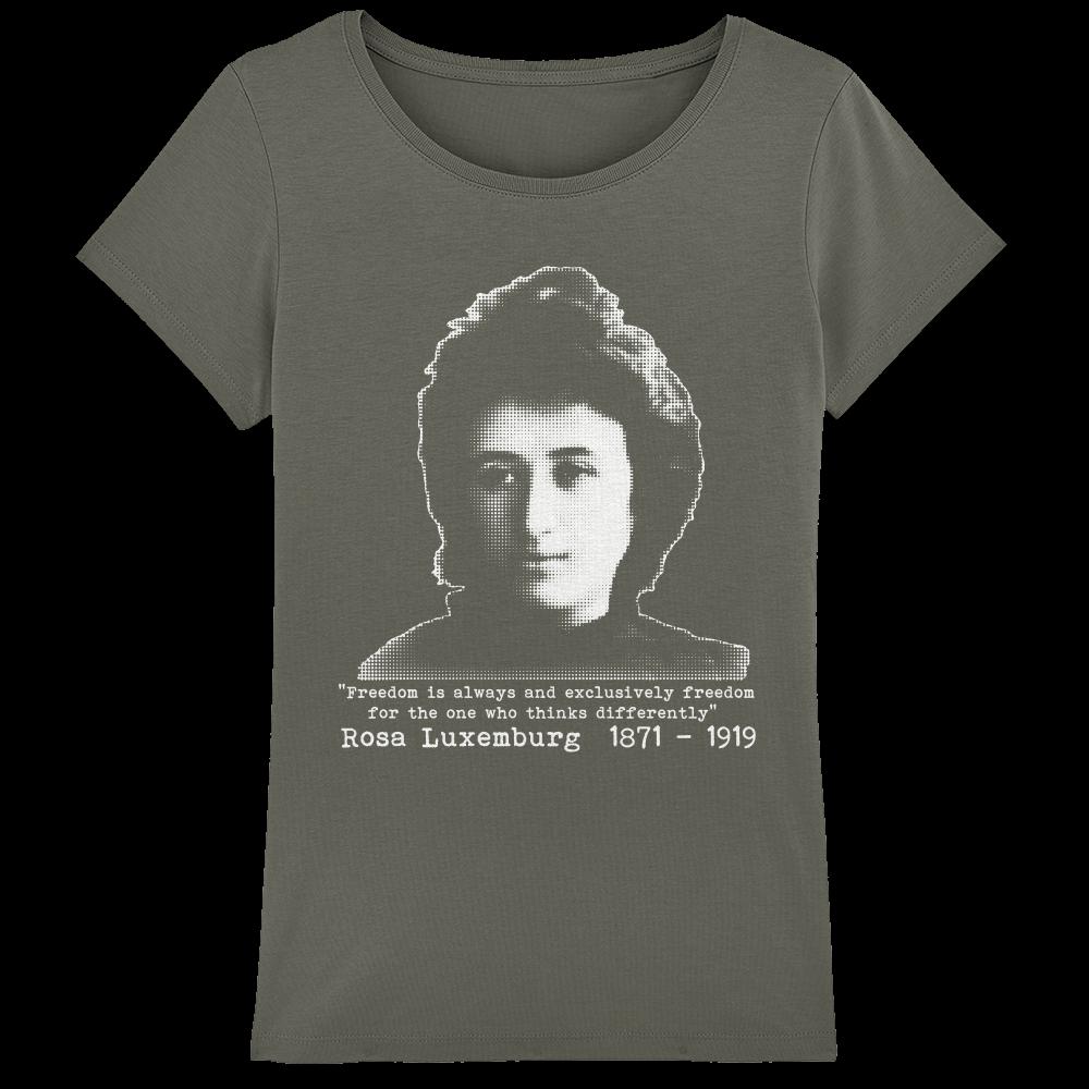 Rosa Luxemburg Ladies Organic Cotton T Shirt Sabcat Printing